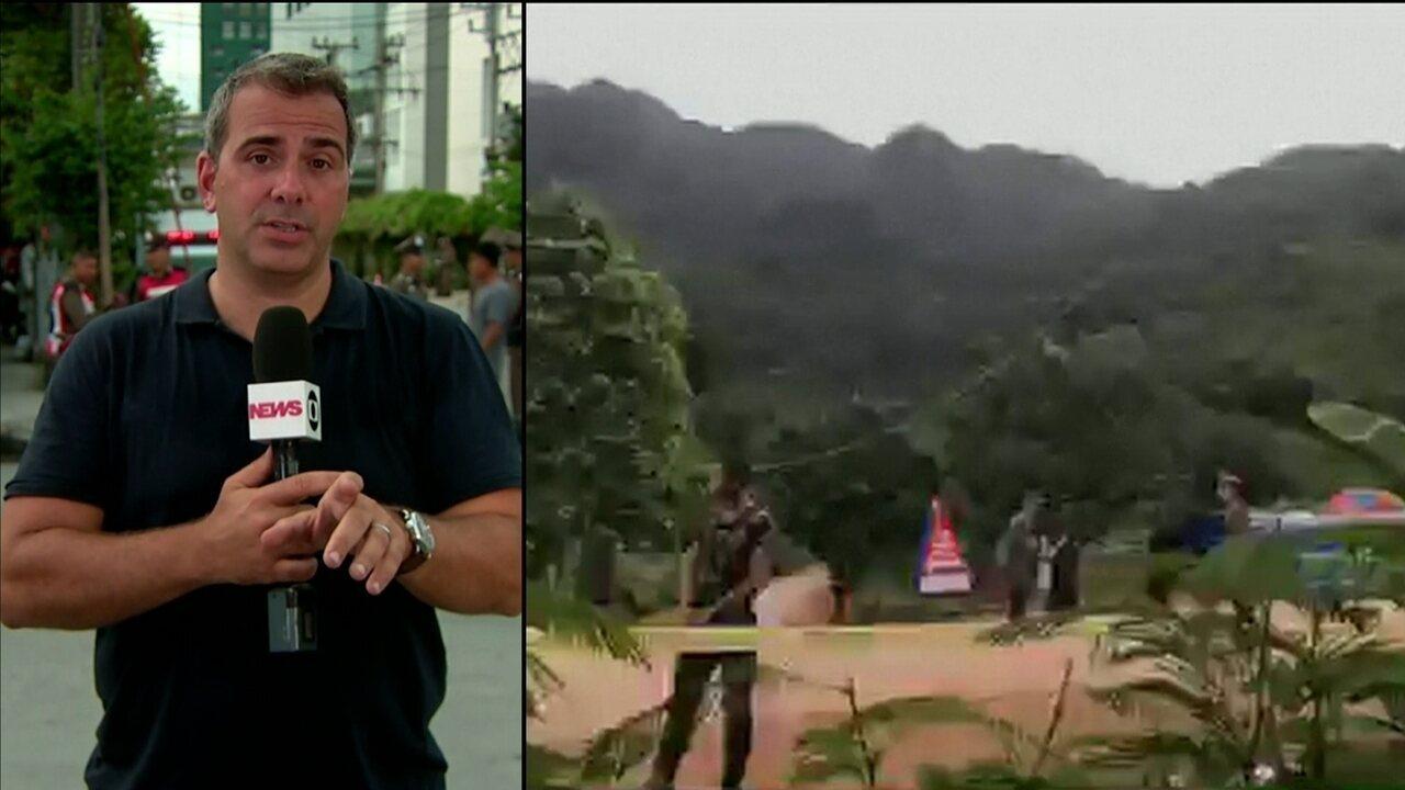Sexto e sétimo meninos são resgatados de caverna na Tailândia, diz testemunha