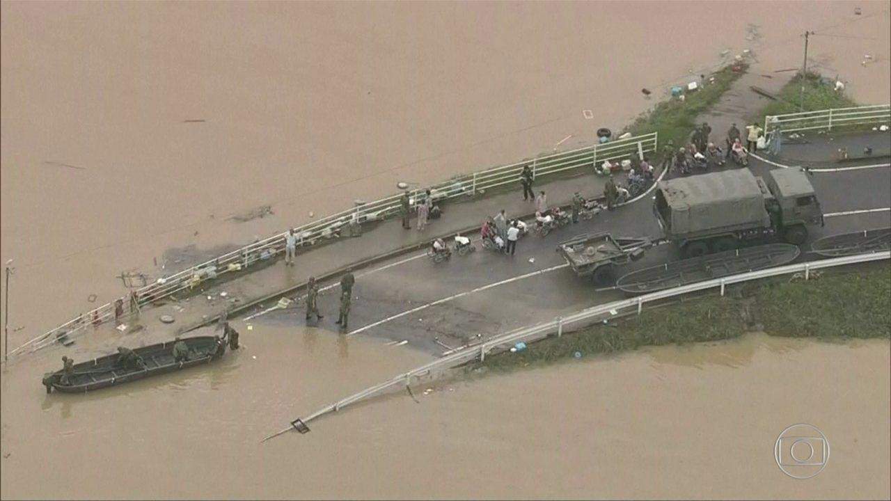 Chuva recorde deixa 112 mortos no Japão
