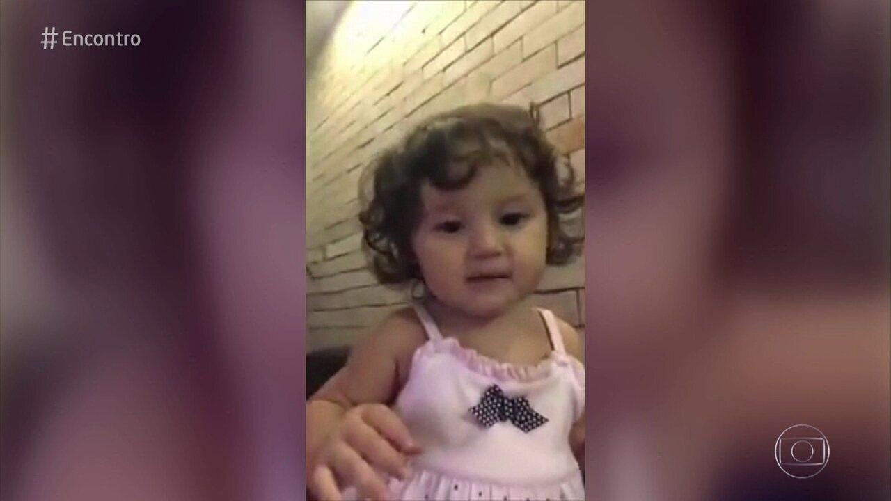 Bruno Gissoni mostra vídeo da filha Madalena falando 'papai'
