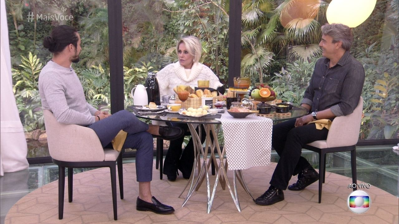 Ana Maria recebe Alexandre Borges e Rômulo Estrela na Casa de Cristal