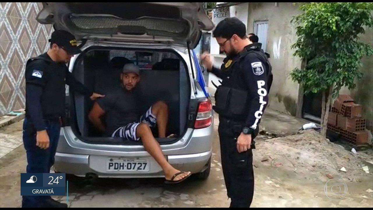 Polícia prende seis pessoas por envolvimento em homicídios e tráfico de drogas em Olinda
