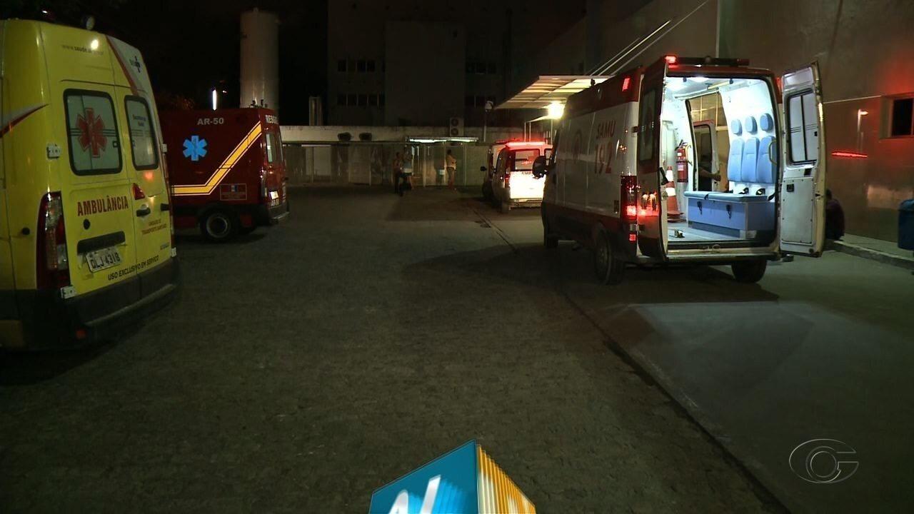 Falta de macas deixa várias ambulâncias retidas no Hospital Geral do Estado