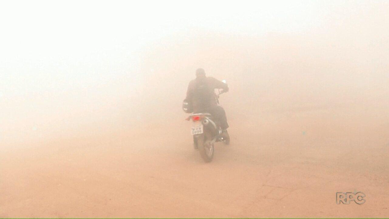 Incêndio na zona sul de Londrina complica a vida de motoristas e moradores da região