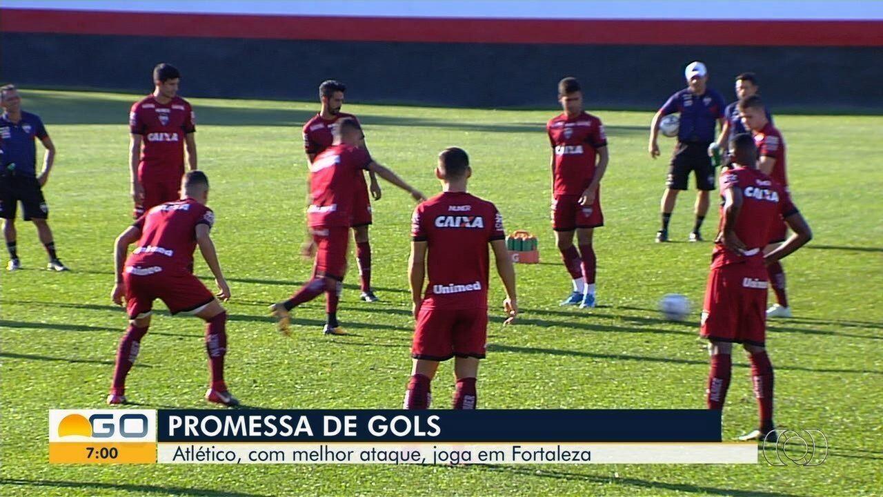 Atlético-GO se prepara para enfrentar o Fortaleza, na Arena Castelão