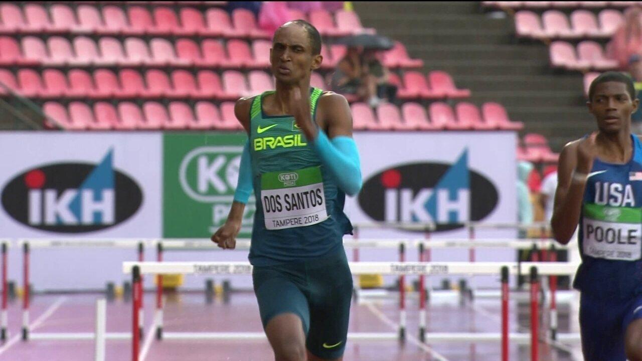 Alison Santos vence bateria nos 400m com barreiras no Mundial de atletismo sub-20