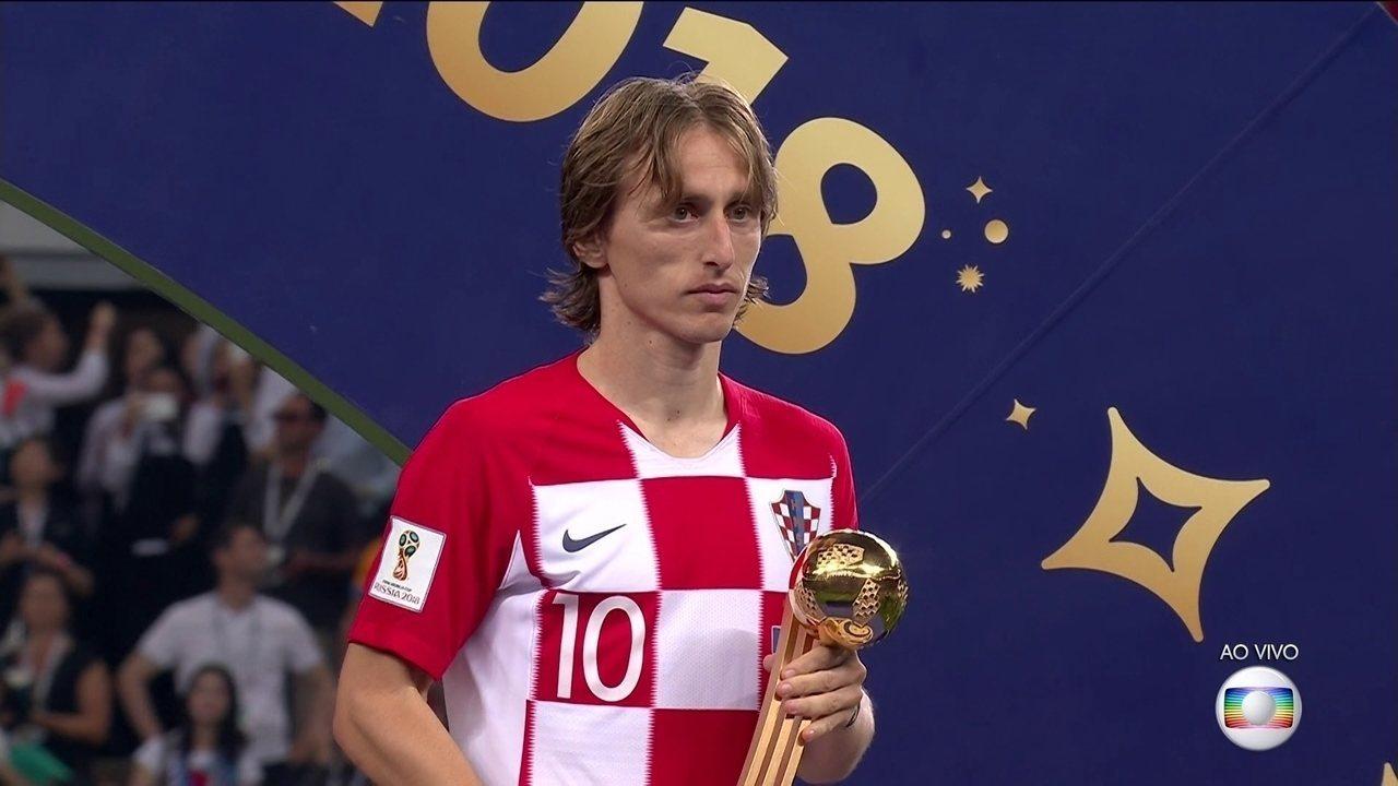 Craque da Croácia, Modric ganha o prêmio de craque da Copa do Mundo 2018