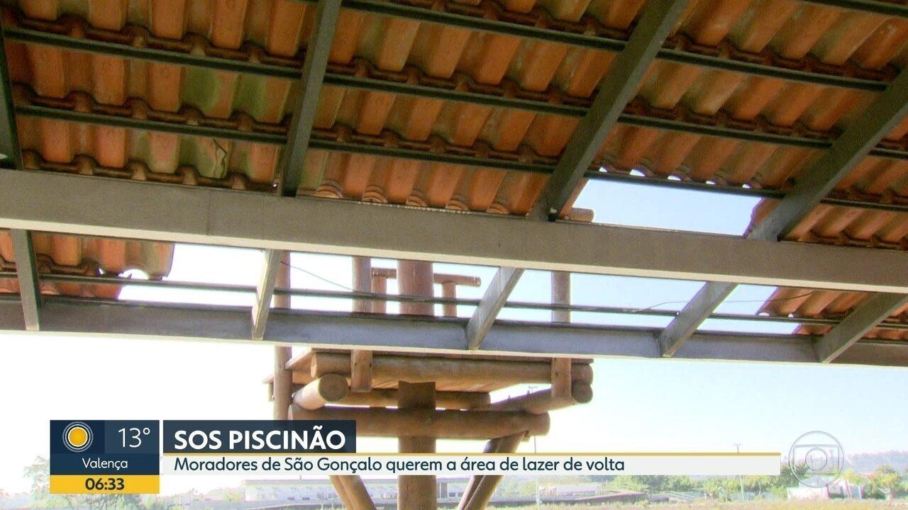 Moradores da região do piscinão de São Gonçalo apontam abandono e problemas na manutenção