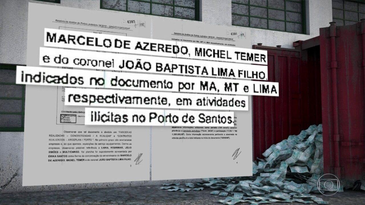 PF diz que nova planilha reforça suspeita de que coronel repassou dinheiro a Temer