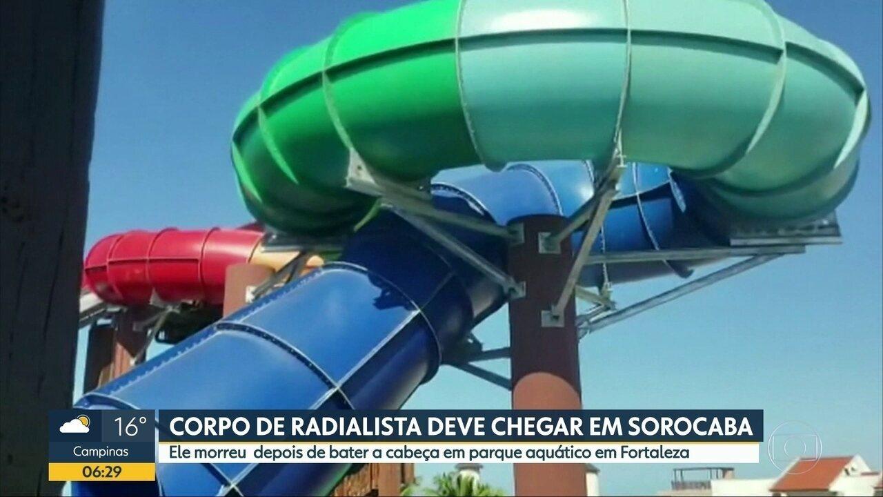 Radialista morre em brinquedo de parque aquático, em Fortaleza