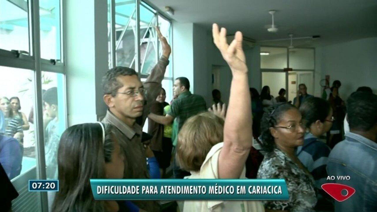 Moradores de Cariacica, no ES, enfrentam dificuldades em posto de saúde