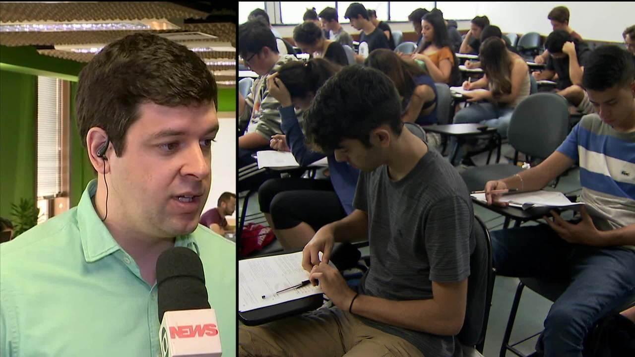 Alunos brasileiros têm dificuldades para fazer provas