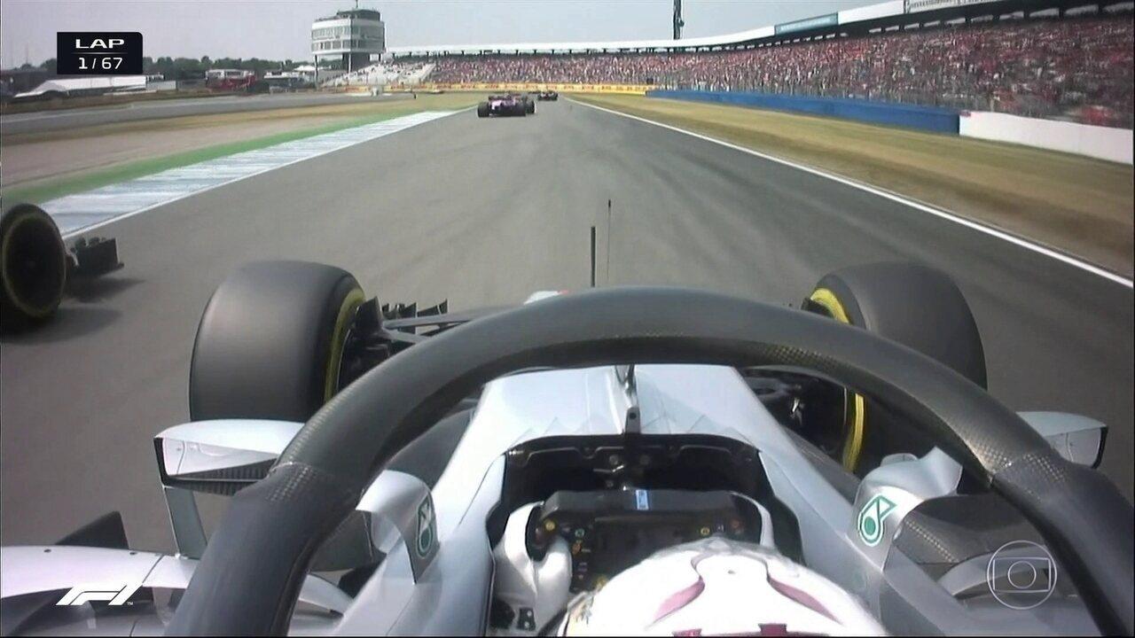 Hamilton começa a sua corrida de recuperação no GP da Alemanha
