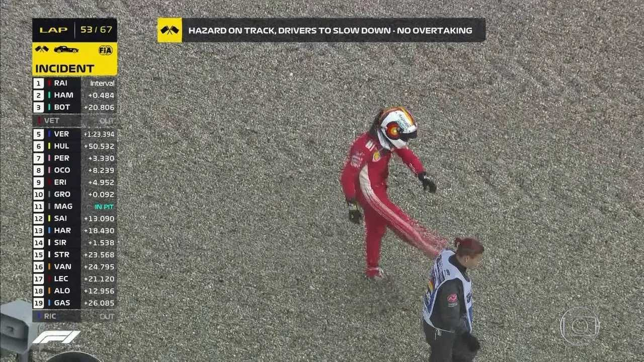 Replay da batida de Vettel no GP da Alemanha