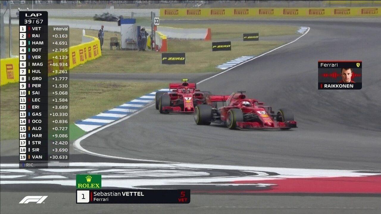 Vettel ultrapassa Raikkonen no GP da Alemanha