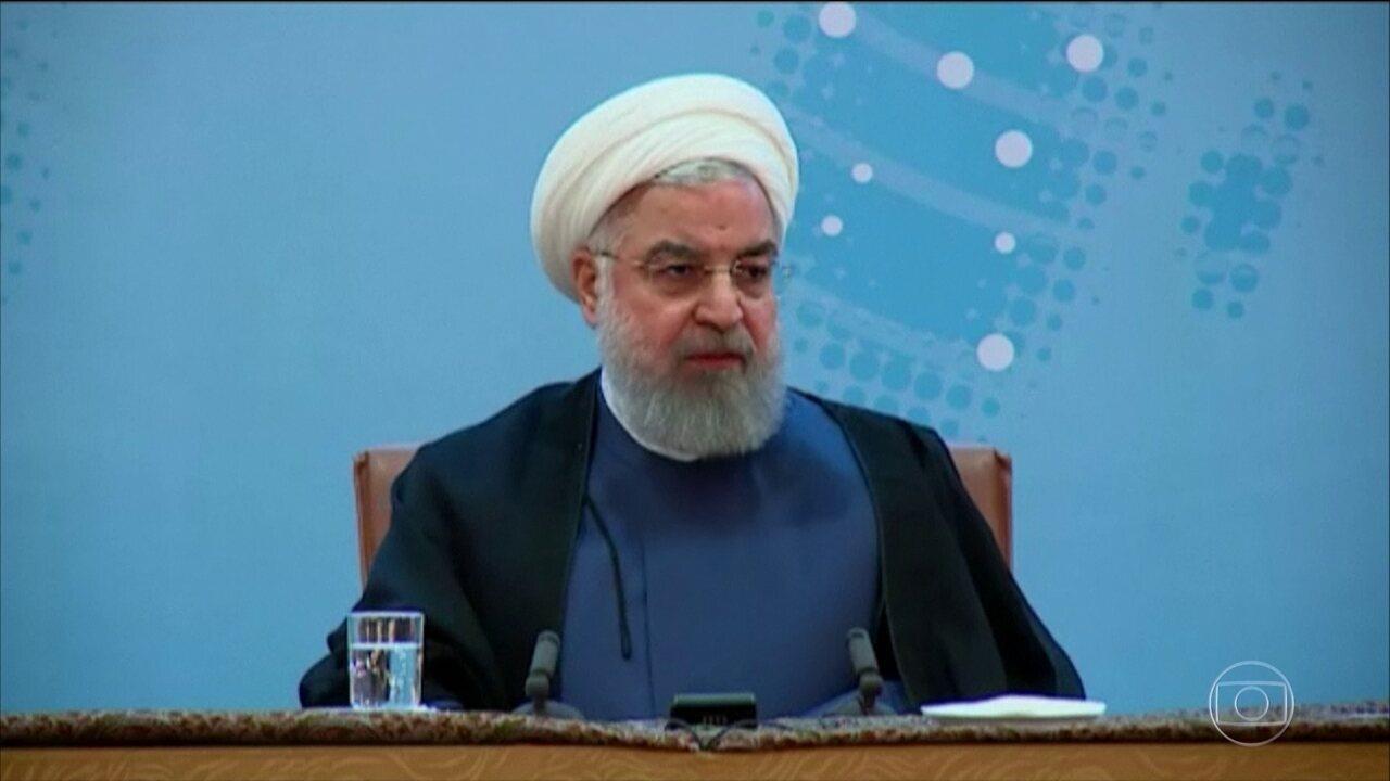 Donald Trump e presidente iraniano Hassan Rouhani trocam declarações em tom de ameaças