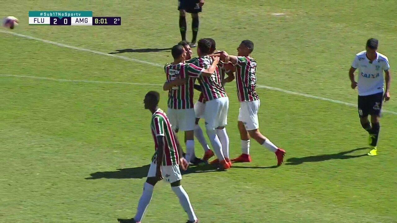 Os gols de Fluminense 3 x 0 América-MG pelas quartas da Taça BH de Futebol Sub-17 2018