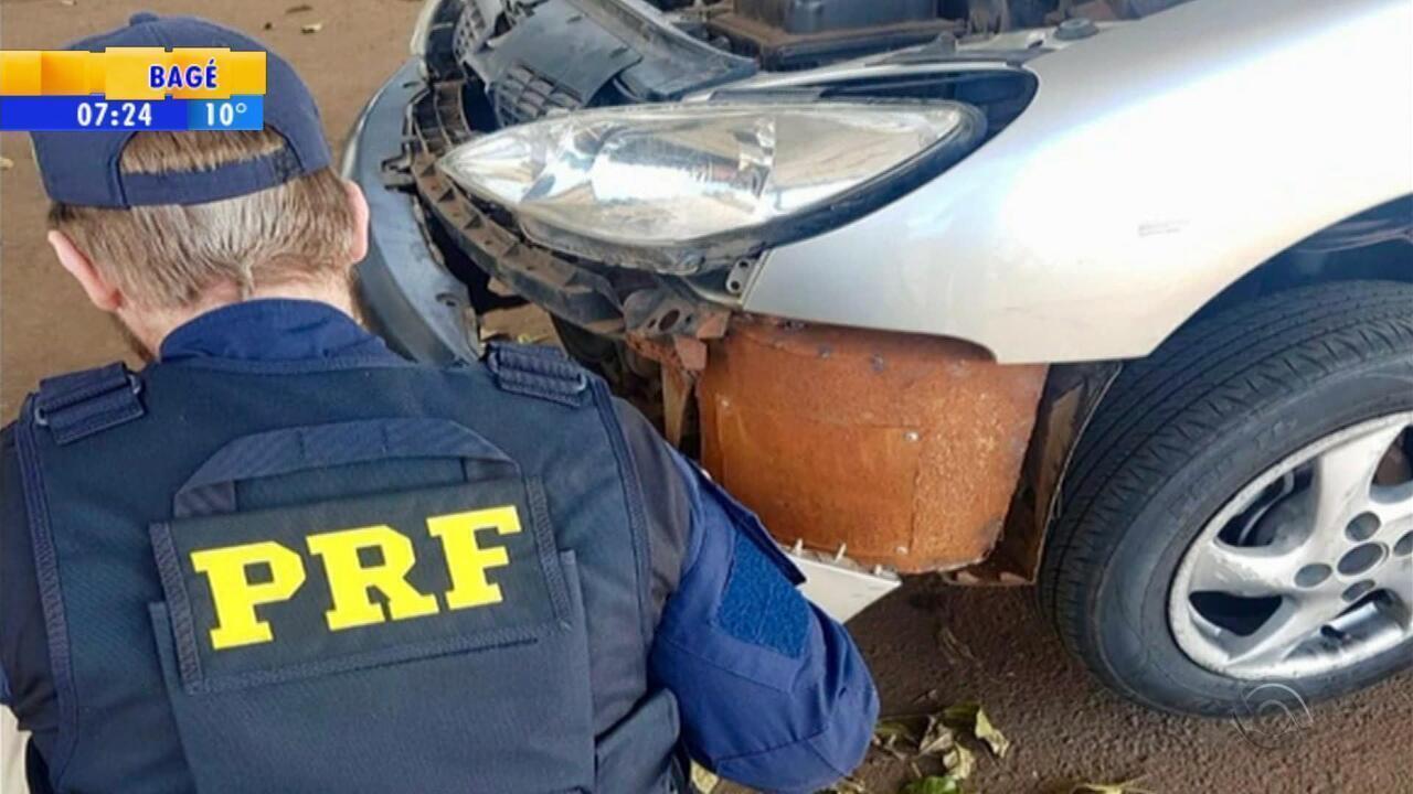 Homem é preso transportando drogas em carro com a família no RS