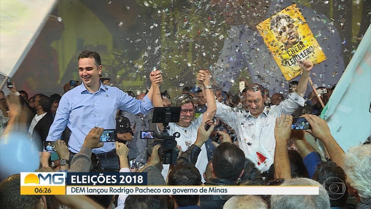 DEM confirma candidatura de Rodrigo Pacheco ao governo de Minas Gerais
