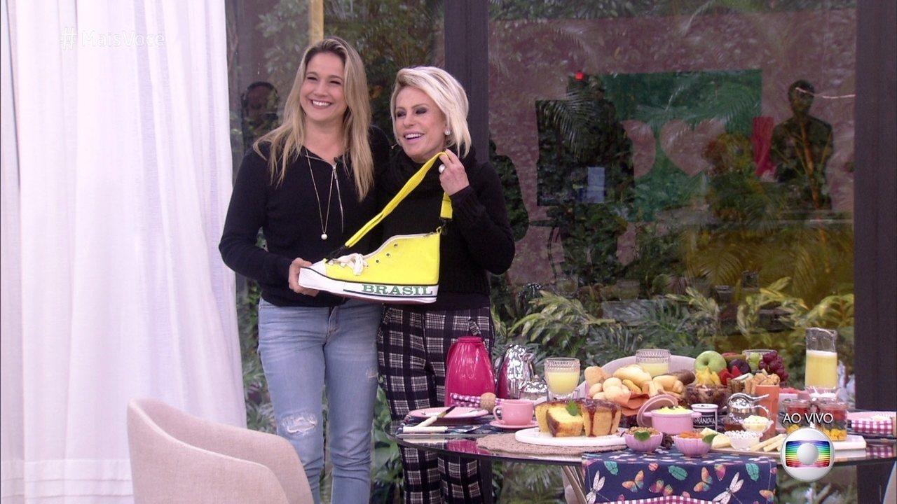 Ana Maria relembra simpatia que fez para estreitar a amizade e presenteia Fernanda Gentil