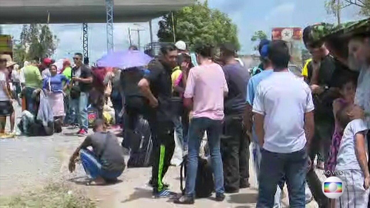 Acesso de venezuelanos ao Brasil por Roraima foi liberado na manhã desta terça (7)