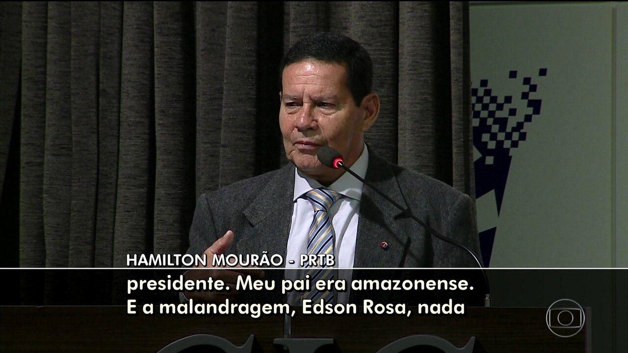 Declaração de Mourão, candidato a vice de Bolsonaro, causa protestos