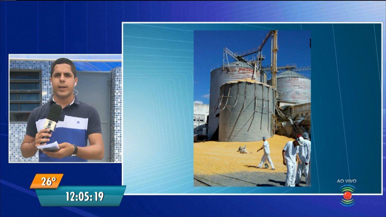 Trabalhador morre e outro fica ferido após acidente com silo de milho em Campina Grande
