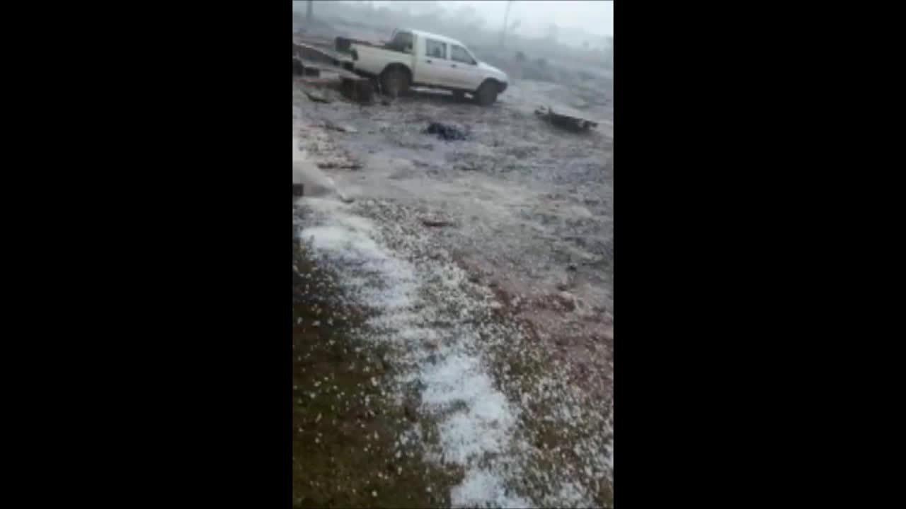 Chuva de granizo assusta moradores de Vilhena