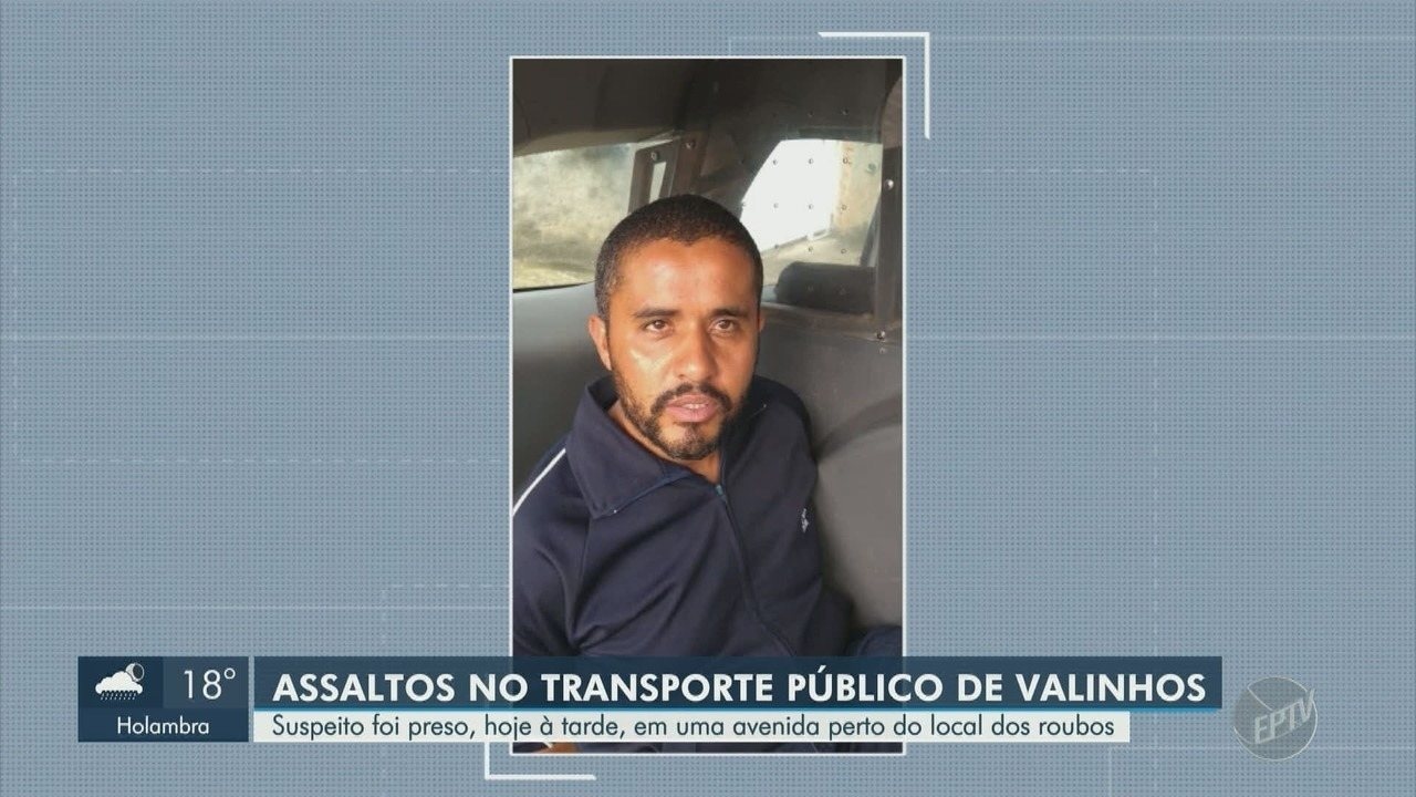 PM prende suspeito de assaltar ônibus em Valinhos