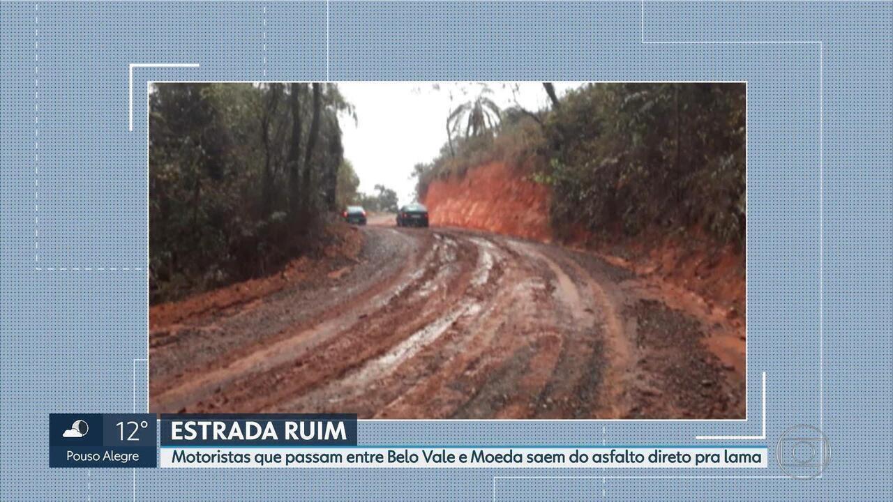 Estrada de terra prejudica comunidade de Belo Vale e Moeda, na Grande BH
