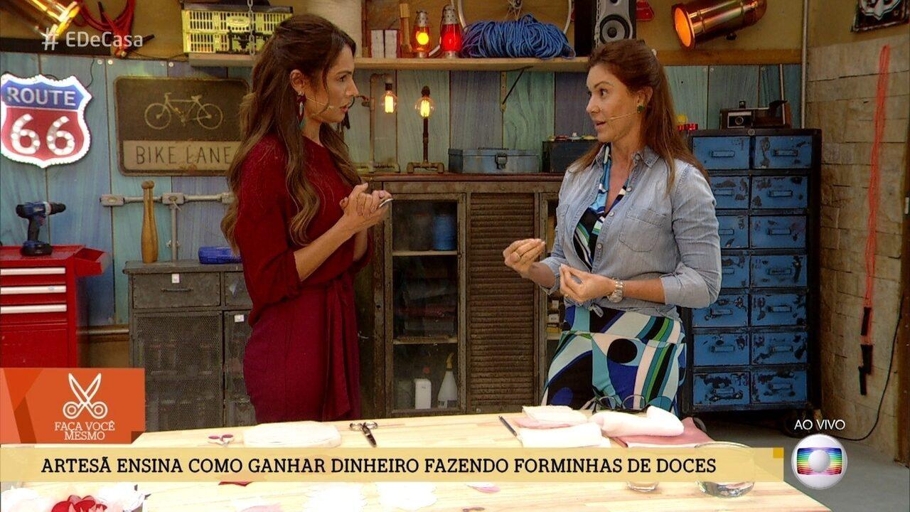 Márcia Calil ensina como ganhar dinheiro fazendo forminhas de doces