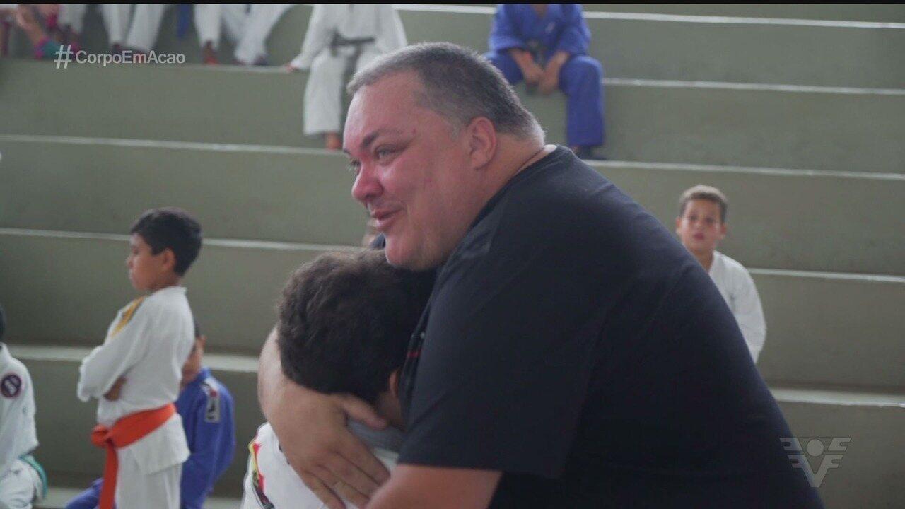 Pais e filhos confraternizam em torneio de judô de Praia Grande