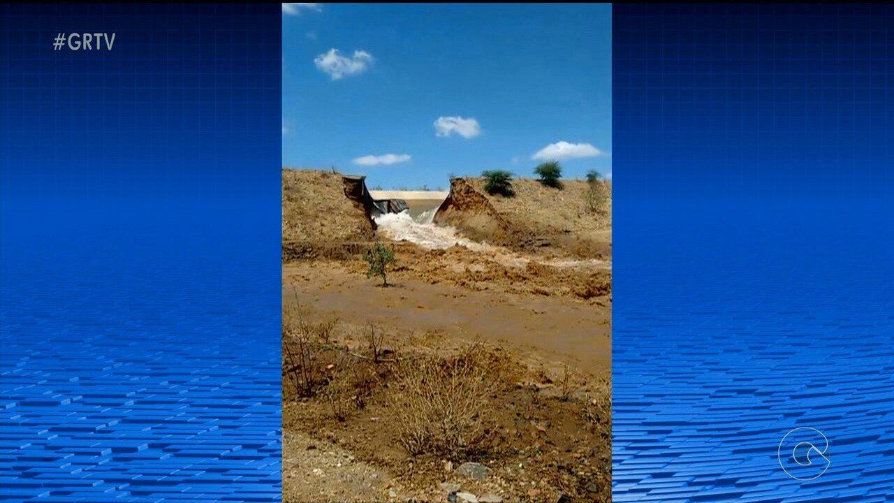 Canal da transposição rompe em Salgueiro, no Sertão de Pernambuco