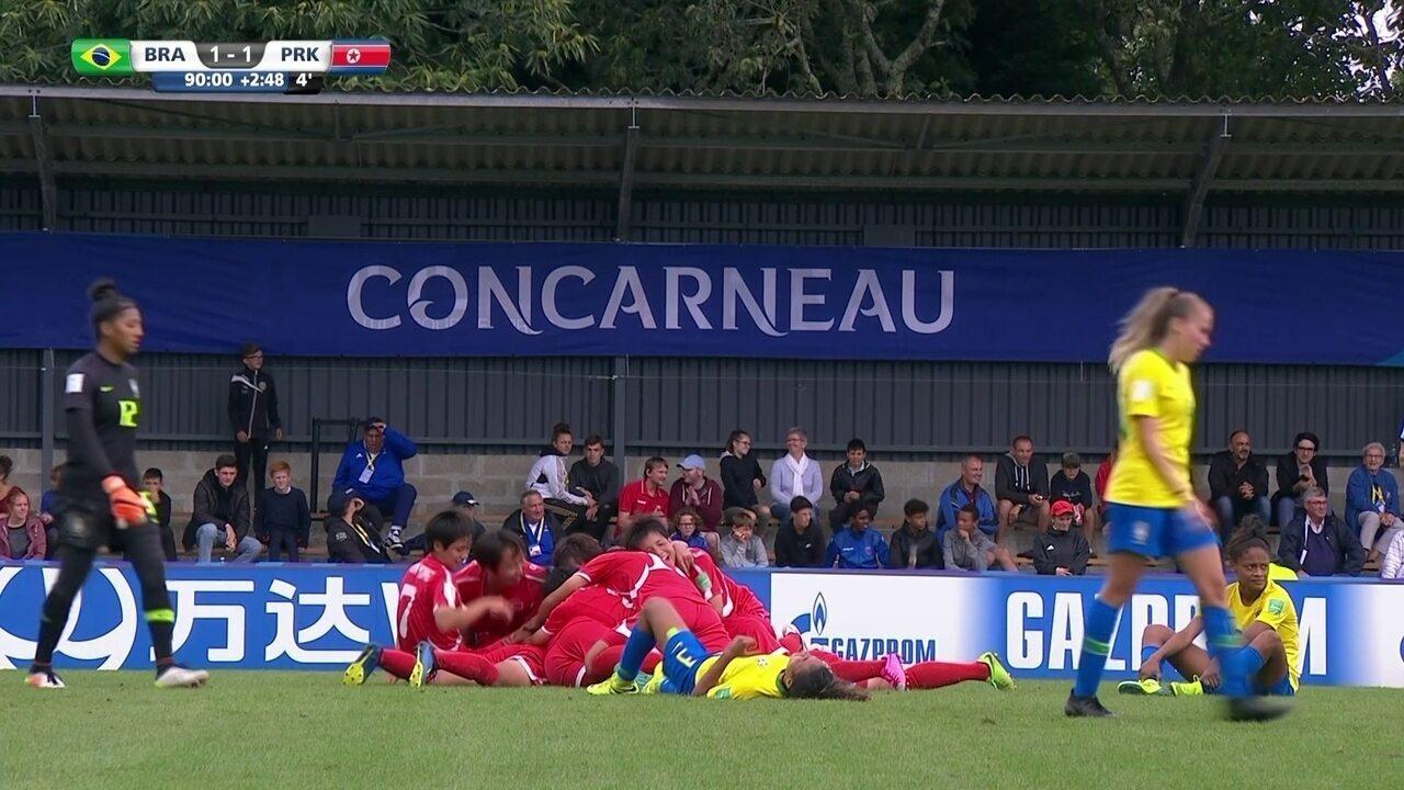 Os melhores momentos de Brasil 1 x 2 Coreia do Norte pela Copa do Mundo sub-20 feminina