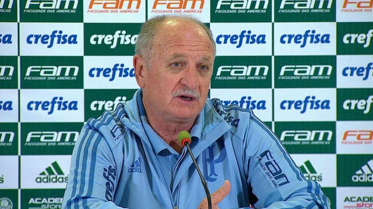 8fac027a03 Felipão concede entrevista coletiva após a vitória do Palmeiras sobre o  Vasco