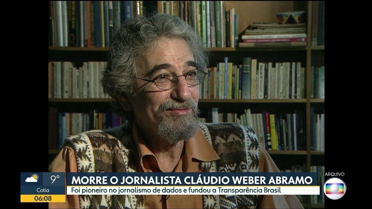 8220ef997 Morre em São Paulo Claudio Weber Abramo, fundador da Transparência ...