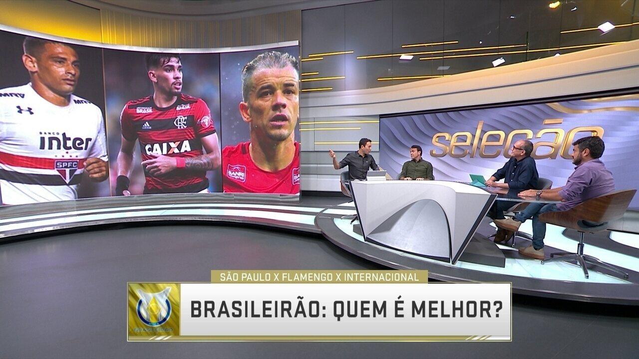 Seleção discute qual time tem mais chances de ser campeão do Brasileirão