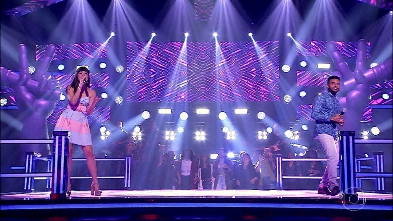 """Géssica Lima e Ramon Nascimento cantam """"Amor Meu Grande Amor"""""""