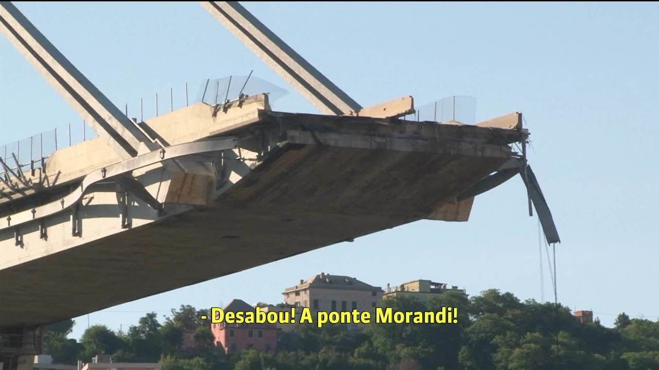 Divulgada ligação avisando sobre a queda da ponte em Gênova, na Itália