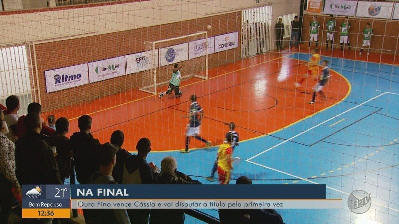 Ouro Fino vence Cássia e se classifica para a final da Taça EPTV de Futsal