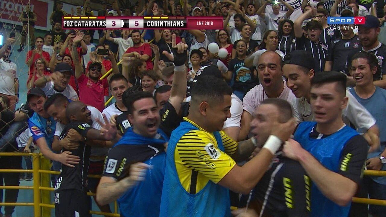 Os gols de Corinthians 5 x 3 Foz Cataratas pela Liga Nacional de Futsal 5be711a543a7e