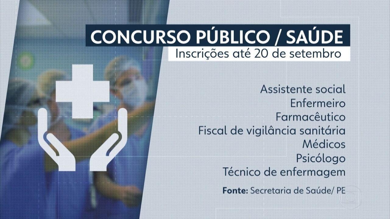 77bfc3f48c85d Secretaria de Saúde inscreve em concurso para mil vagas em Pernambuco