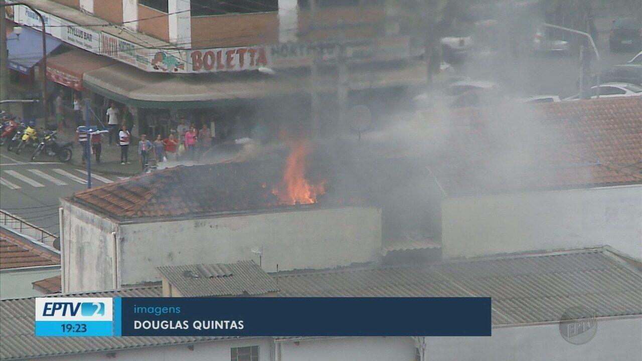 Incêndios atingem prédio e fábrica em Poços de Caldas e Pouso Alegre (MG)