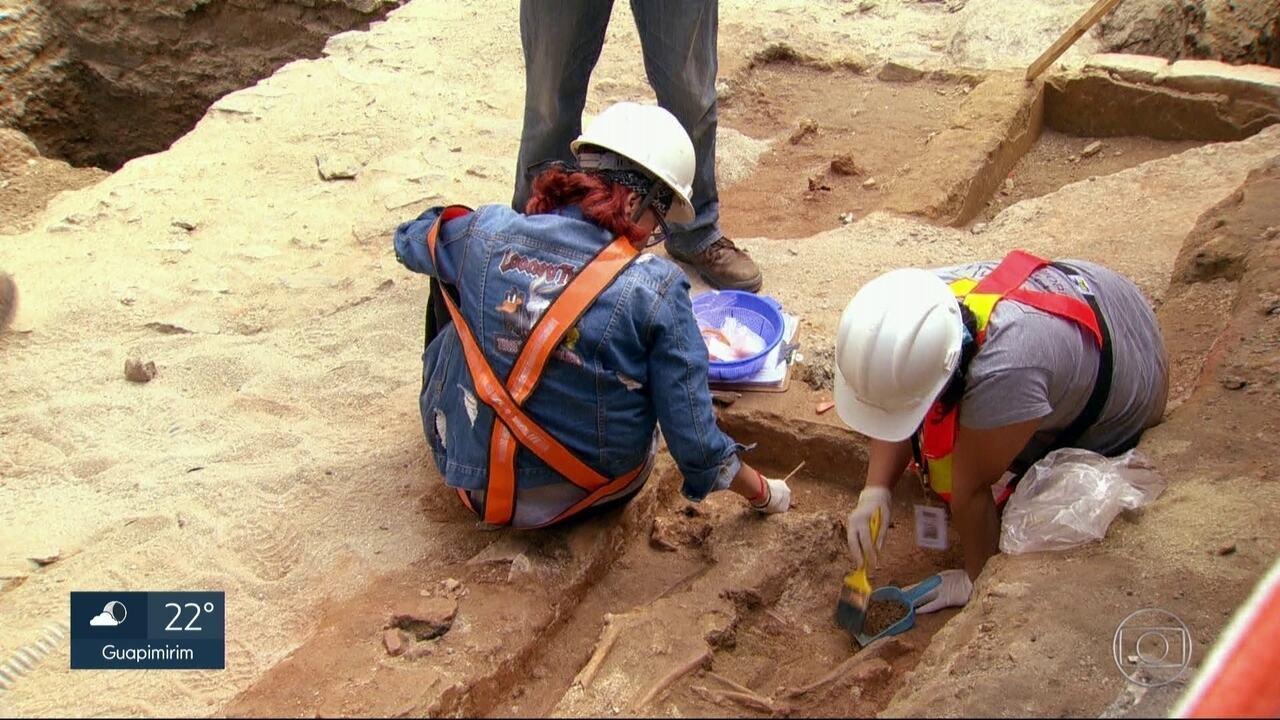 Obras do VLT descobrem um pouco da história do Rio do século XVIII