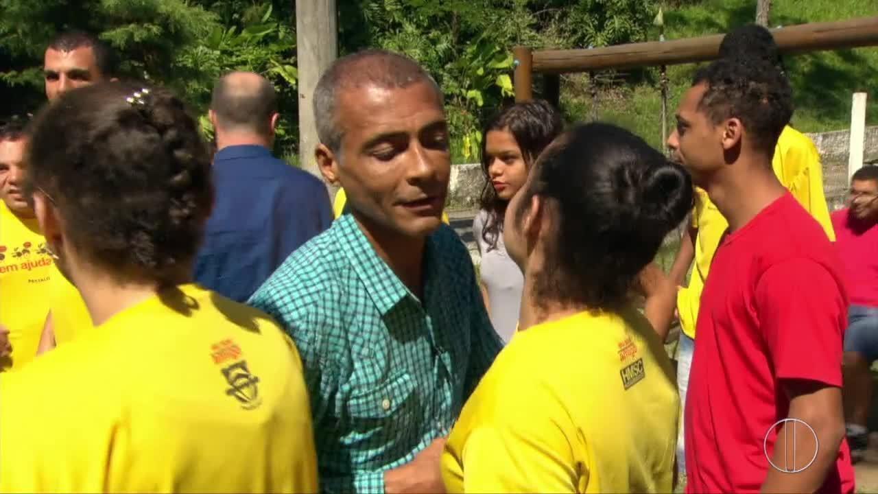 Resultado de imagem para Romário vai a Niterói e diz que, se eleito, vai exigir que Lei de Inclusão seja cumprida