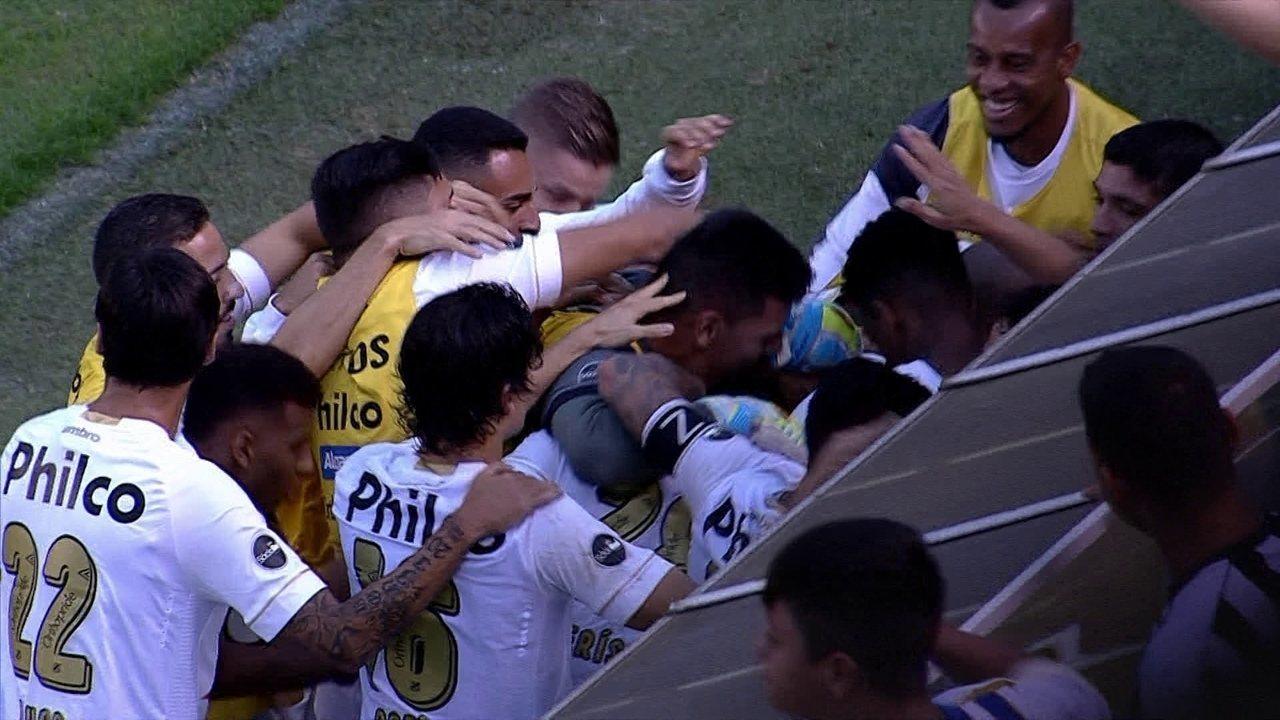 ff077cafe4 Os gols de Santos 2 x 0 Bahia pela 21ª rodada do Campeonato Brasileiro