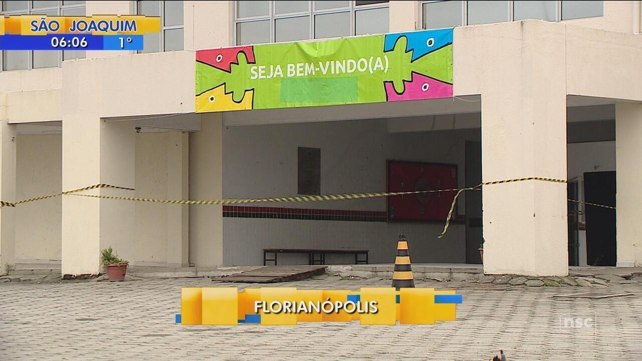 Aulas de escola da capital inaugurada há quatro anos são suspensas