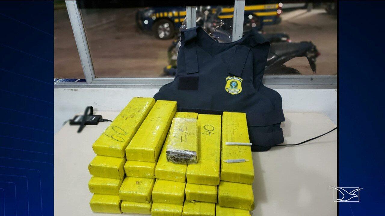 Mulher é presa com 17 tabletes de maconha no Maranhão