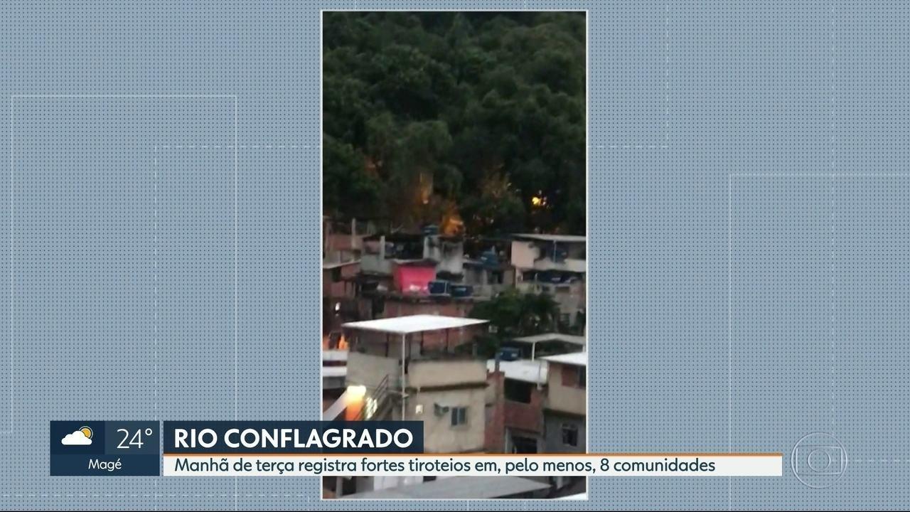 Moradores de várias regiões do Rio acordaram com intenso tiroteio