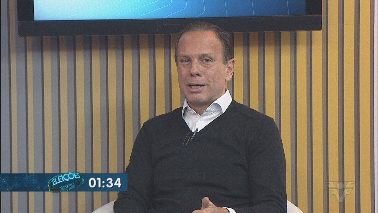Candidato João Doria é entrevistado no Jornal da Tribuna 1ª Edição ... 22be0d49b0ef1