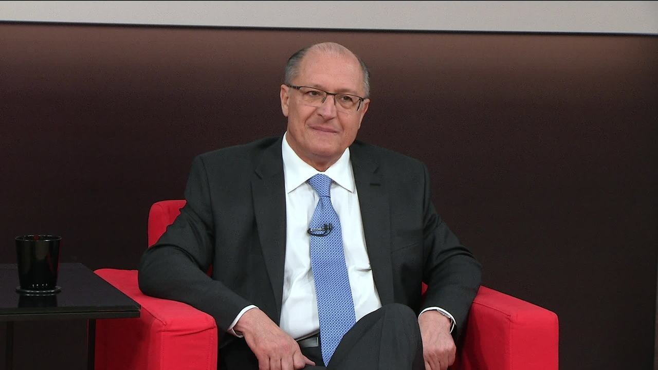Central das Eleições recebe Geraldo Alckmin, candidato do PSDB à presidência
